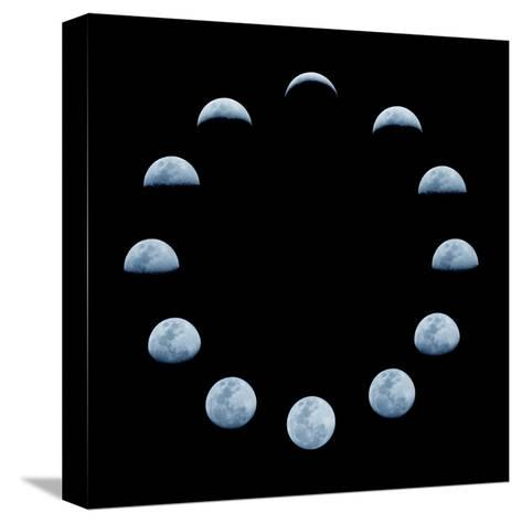 Moon and it's Phases-oriontrail2-Stretched Canvas Print