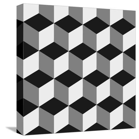 Boxes Illusion Copy-yobidaba-Stretched Canvas Print