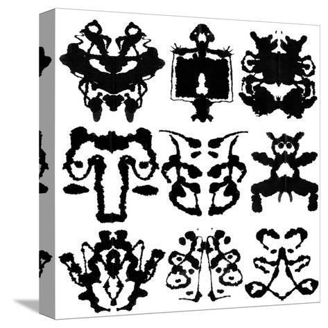 Nine Rorschach Test-akova-Stretched Canvas Print