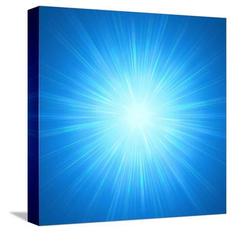 Shining Blue Lights-marinini-Stretched Canvas Print