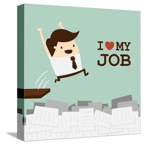 I Love My Job-Dooder-Stretched Canvas Print