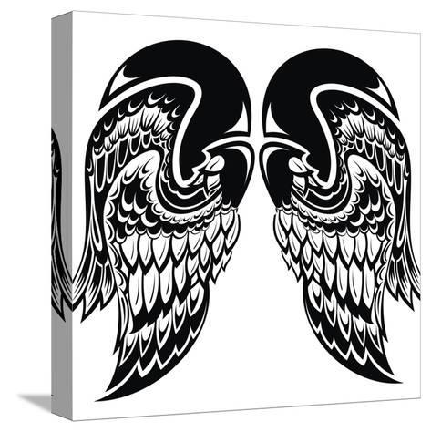 Angel Wings-worksart-Stretched Canvas Print