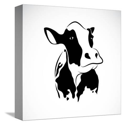 Vector Image of an Cow-yod67-Stretched Canvas Print
