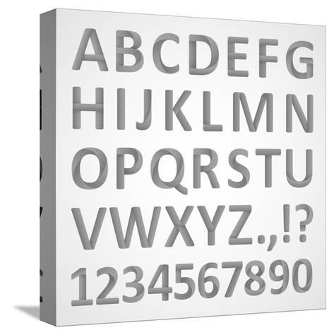 3D Font- theseamuss-Stretched Canvas Print