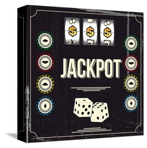 Jackpot-snoopgraphics-Stretched Canvas Print