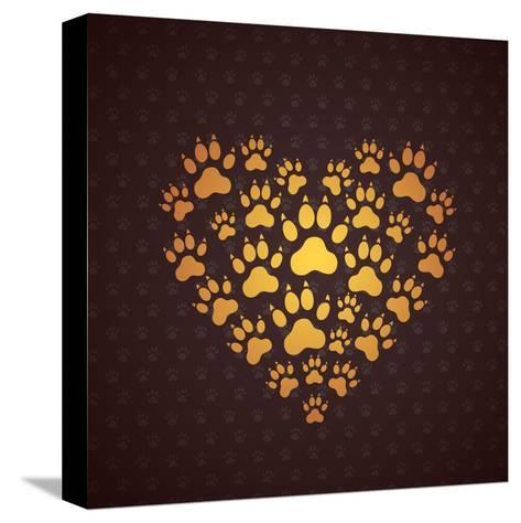 Heart of the Dog Traces.-MastakA-Stretched Canvas Print