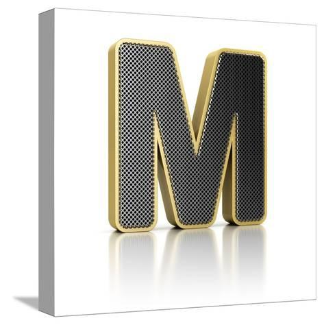 Letter M-badboo-Stretched Canvas Print