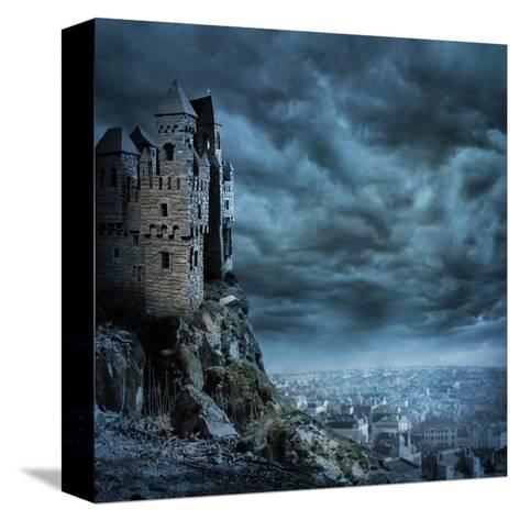 Castle-egal-Stretched Canvas Print
