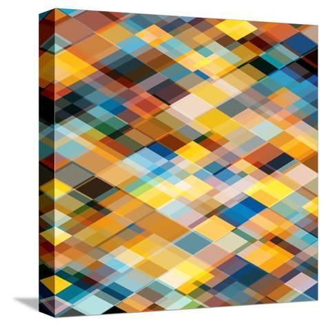 Abstract Geometrical Background-epic44-Stretched Canvas Print