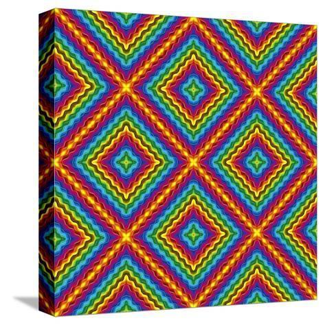 Pop Art Disco Pattern-Sangoiri-Stretched Canvas Print