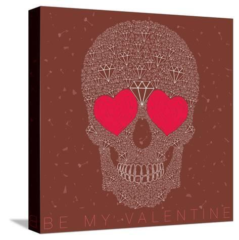Vector Funny, Candy Skull-karnoff-Stretched Canvas Print