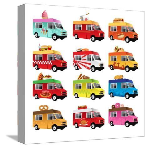 Food Truck-Artisticco LLC-Stretched Canvas Print