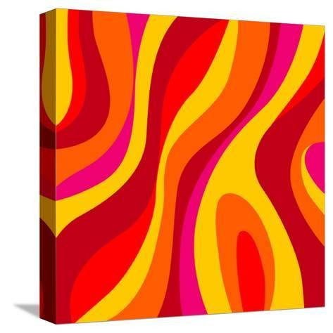Sixties Design-UltraPop-Stretched Canvas Print