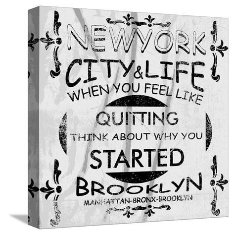 New York City Vector Art-emeget-Stretched Canvas Print