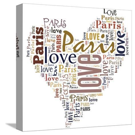 I Love Paris!-alanuster-Stretched Canvas Print