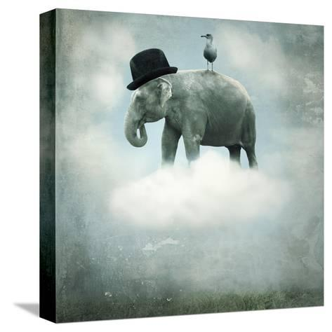 Fantasy Elephant Flying-ValentinaPhotos-Stretched Canvas Print