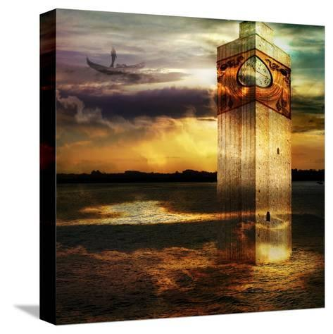 Tower In Italy- sattva_art-Stretched Canvas Print
