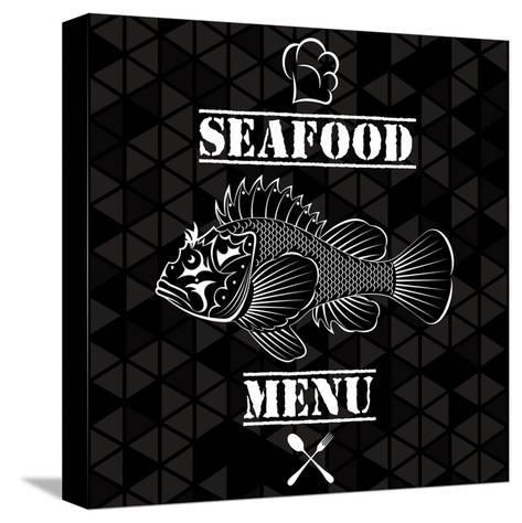 Fish for the Restaurant Menu-111chemodan111-Stretched Canvas Print