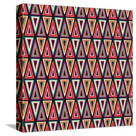 Triangles Pattern-Magnia-Stretched Canvas Print