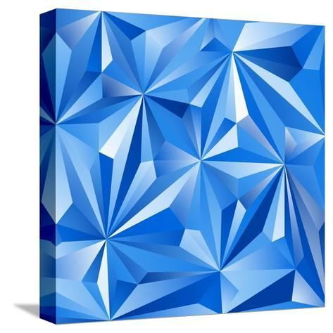 Abstract Blue Background-epic44-Stretched Canvas Print