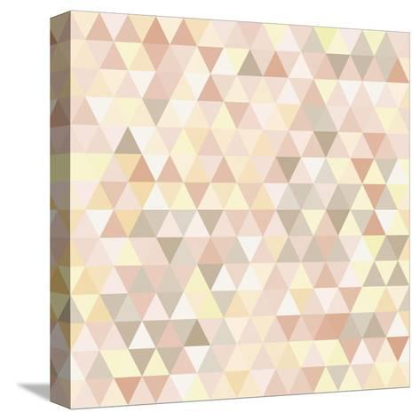 Triangle Neutral Abstract Background-IreneArt-Stretched Canvas Print