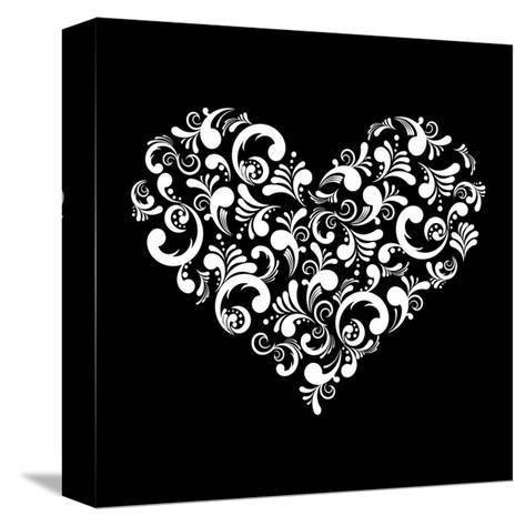 Abstract Heart-Kumer-Stretched Canvas Print