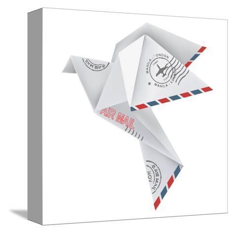 Origami Pigeon-jiris-Stretched Canvas Print