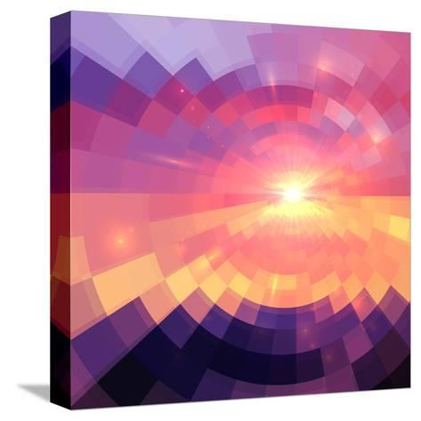 Magic Sunset in Abstract Stained Glass-art_of_sun-Stretched Canvas Print