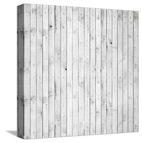 Background Texture of Old White Painted Wooden Lining Boards Wall-Eugene Sergeev-Stretched Canvas Print