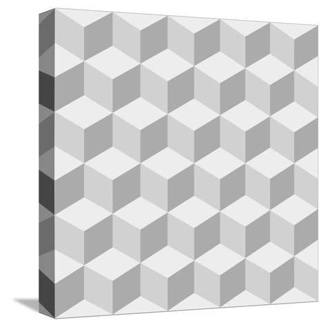 Cubes Background- sergey89rus-Stretched Canvas Print