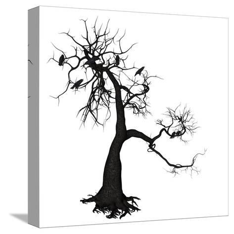 Crow Tree-artshock-Stretched Canvas Print