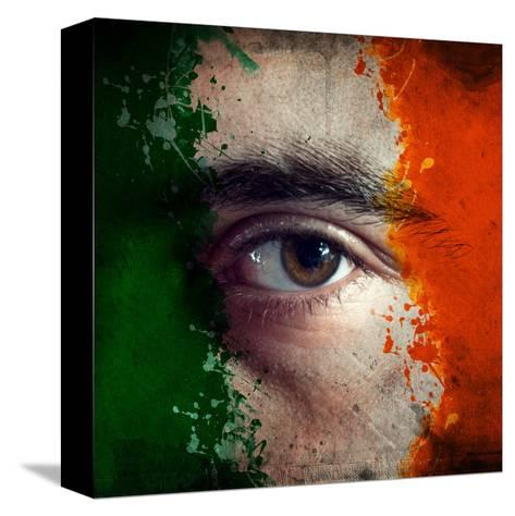 Flag On Face-igor stevanovic-Stretched Canvas Print