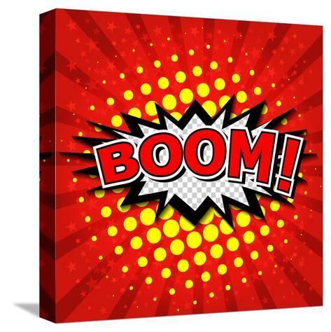 Boom! Comic Speech Bubble-jirawatp-Stretched Canvas Print
