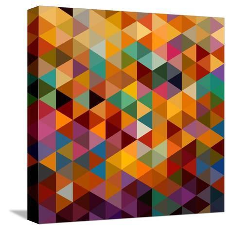 Geometric Triangle Pattern-cienpies-Stretched Canvas Print
