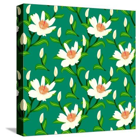 Vector Pattern with Classic Japanese Motifs-tukkki-Stretched Canvas Print