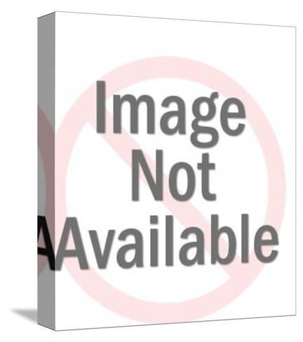 Brunette-Pop Ink - CSA Images-Stretched Canvas Print