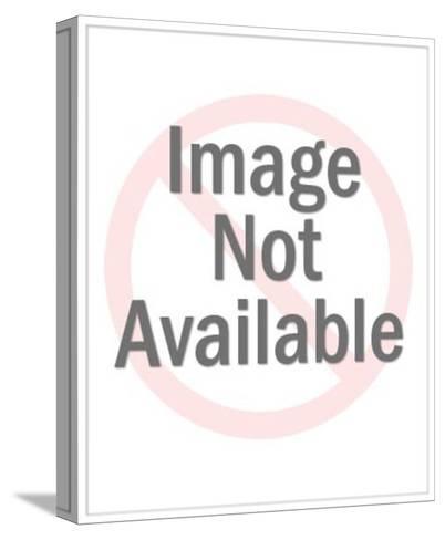 Bald Eagle Holding Flag Crest-Pop Ink - CSA Images-Stretched Canvas Print