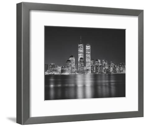 Manhattan, World Financial Center, Night - New York City, Landmarks at Night-Henri Silberman-Framed Art Print