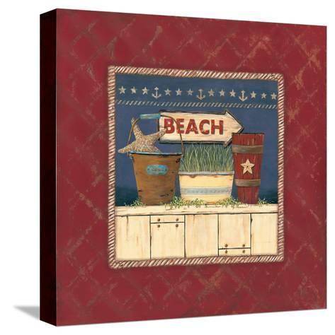 Beach-Jo Moulton-Stretched Canvas Print
