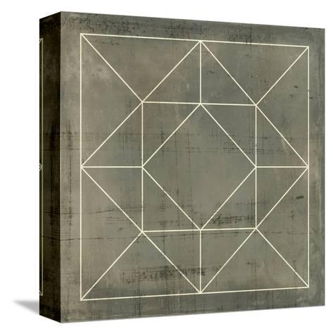 Geometric Blueprint VIII--Stretched Canvas Print