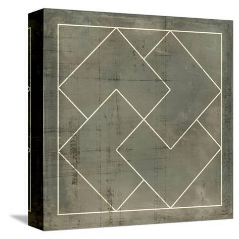 Geometric Blueprint III--Stretched Canvas Print