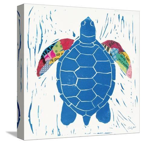 Sea Creature Turtle Color-Courtney Prahl-Stretched Canvas Print