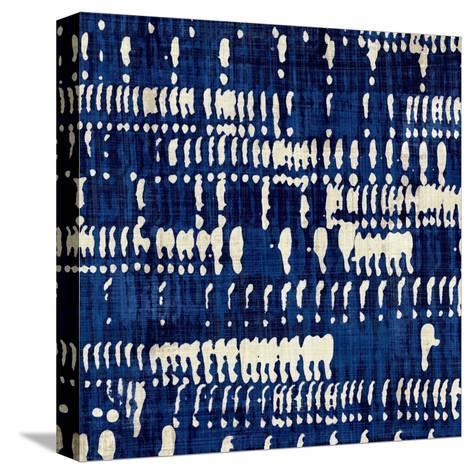 Indigo Batik IV-Hugo Wild-Stretched Canvas Print