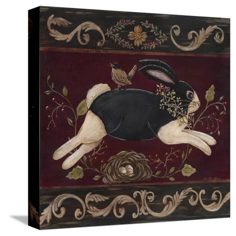 Folk Bunny I-Jo Moulton-Stretched Canvas Print