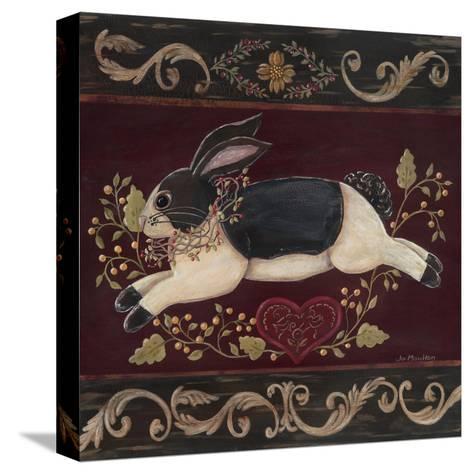 Folk Bunny II-Jo Moulton-Stretched Canvas Print
