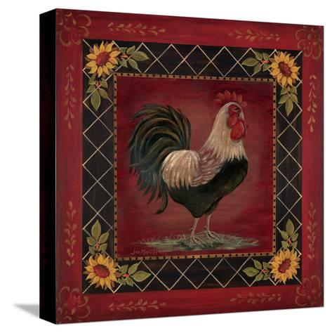 Sunflower Rooster I-Jo Moulton-Stretched Canvas Print