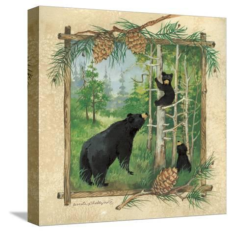 Black Bears II-Anita Phillips-Stretched Canvas Print