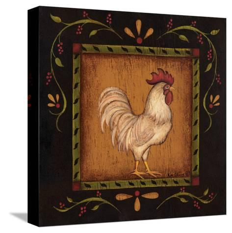 Square Rooster Right-Kim Lewis-Stretched Canvas Print
