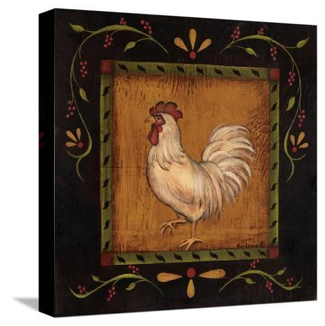 Square Rooster Left-Kim Lewis-Stretched Canvas Print