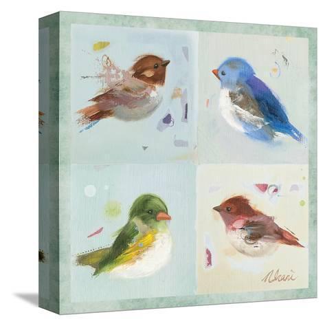 Birds II-Ninalee Irani-Stretched Canvas Print